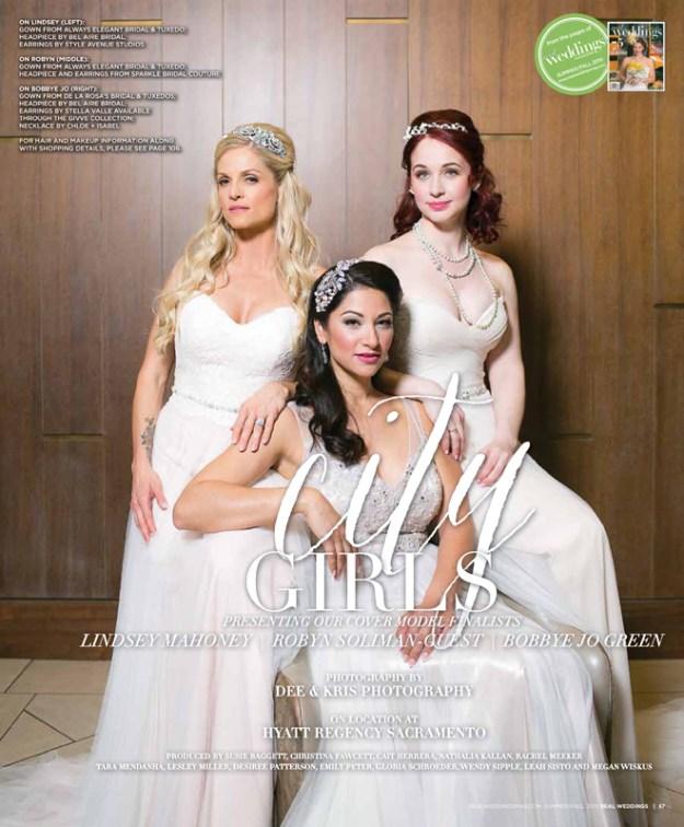 "Sacramento Wedding Inspiration: ""City Girls"" – A Real Weddings Cover Model Finalist Photo Shoot {The Layout}"