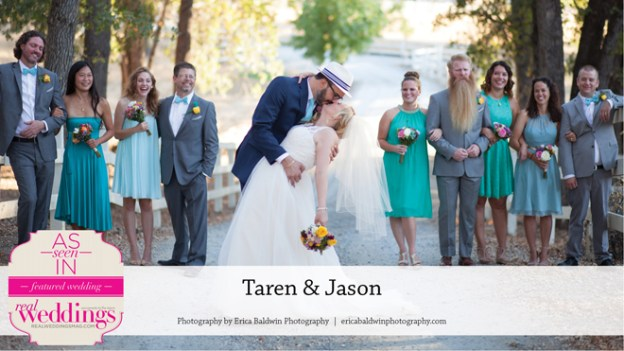 Sacramento Wedding Inspiration: Taren & Jason {From the Summer/Fall 2016 Issue of Real Weddings Magazine}