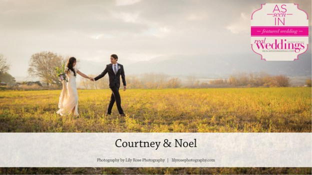 Winters Wedding Inspiration: Courtney & Noel {From the Summer/Fall 2016 Issue of Real Weddings Magazine}