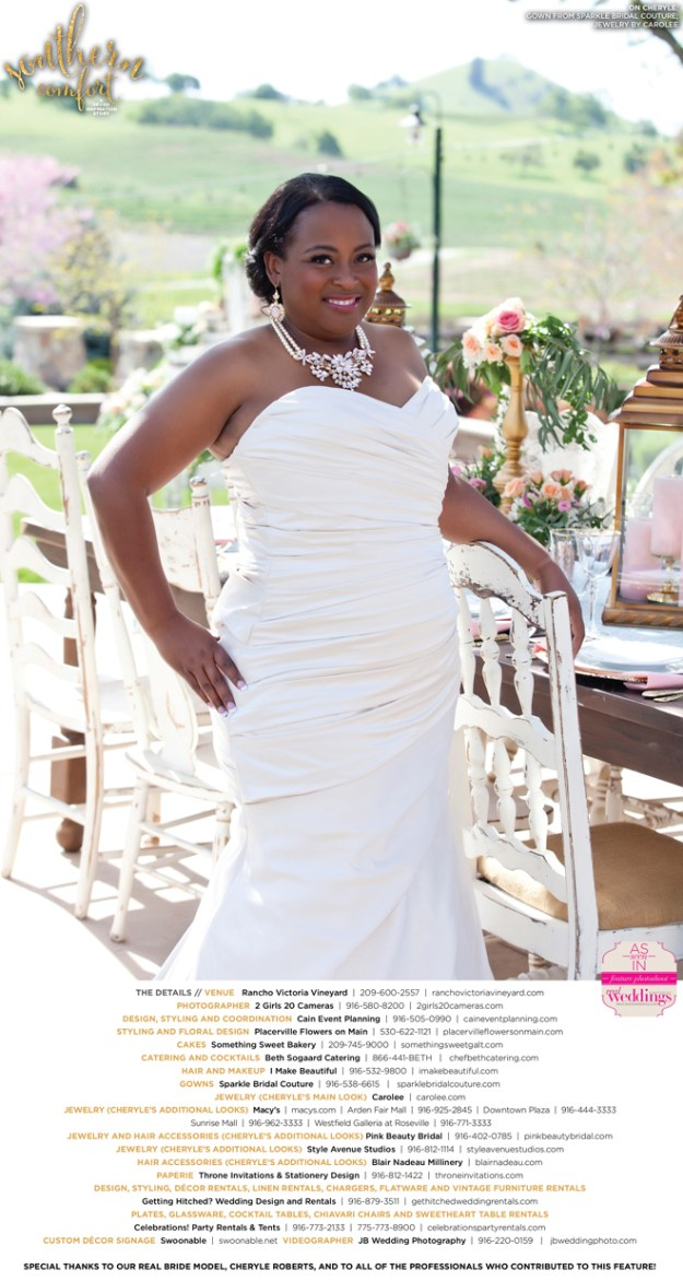 Sacramento Wedding Inspiration: Southern Comfort {Get to Know Our Real Bride Model} from the Summer/Fall 2016 issue of Real Weddings Magazine