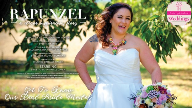 Sacramento Wedding Inspiration: Rapunzel {Get To Know Our Real Bride Model} from the Winter/Spring 2017 issue of Real Weddings Magazine