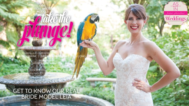 Sacramento Wedding Inspiration: Take The Plunge {Get to Know Our Real Bride Model Leia} from the Winter/Spring 2017 issue of Real Weddings Magazine
