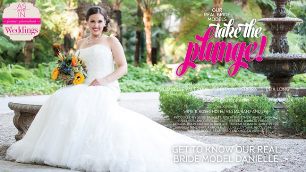 Sacramento Wedding Inspiration: Take The Plunge {Get to Know Our Real Bride Model Danielle} from the Winter/Spring 2017 issue of Real Weddings Magazine
