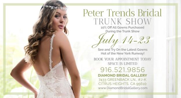 Sacramento Wedding Gown | Sacramento Wedding Dress | Sacramento Trunk Show | Diamond Bridal Gallery | Peter Trends Trunk Show
