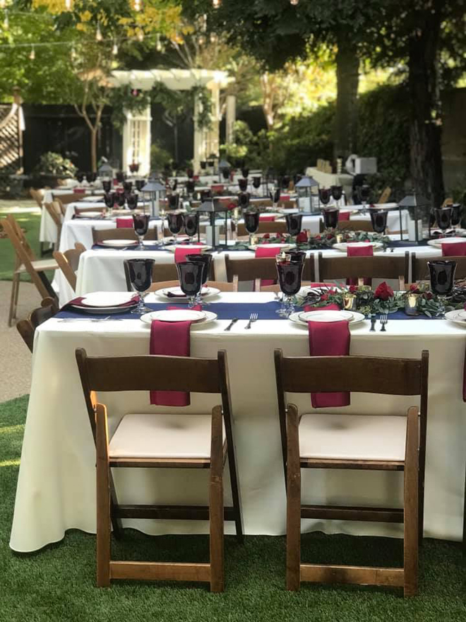 Sacramento Wedding Rentals | Tables Chairs Linens Plates Tents | Aba Daba Rents