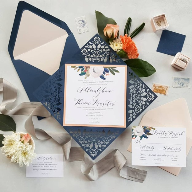 Little Bird Paper Company Sacramento Wedding Invitations