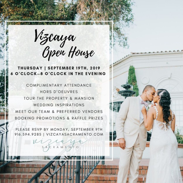 Vizcaya Sacramento | Vizcaya Wedding | Vizcaya Open House | Sacramento Wedding Show | Sacramento Wedding Vendors