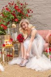 Gown from My Martha Design Boutique; Earrings by Mariell; Shoes from DSW; Bouquet by Carson Valley Florist; Hair by Lisa Harter Hair and Makeup Artist; Makeup by Happily Beautiful Makeup Artistry & Skin Studio. Photography by Farrell Photography on location at Hotel Sutter.