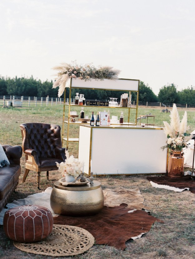 Sacramento Women Supporting Women | Wedding Inspiration | Elegant Rustic Lone Oak Longhorns Styled Shoot Luxury Event Rentals