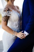 Bright Tropical Sierra Foothills Winery Wedding at Black Oak Mountain Vineyards by Courtland Photography
