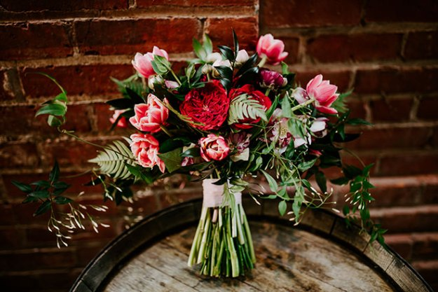 The Bloom Lab Sacramento Florist Pink Wedding Old Sugar Mill James Young Photography