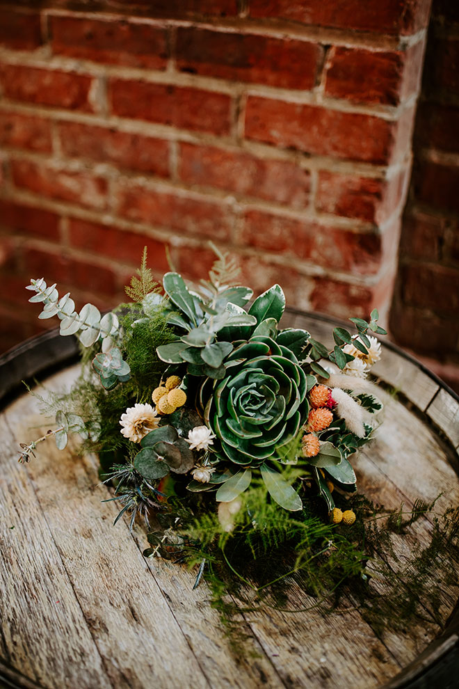 Garden of Weedon Designs Sacramento Florist Succulent Wedding Old Sugar Mill James Young Photography