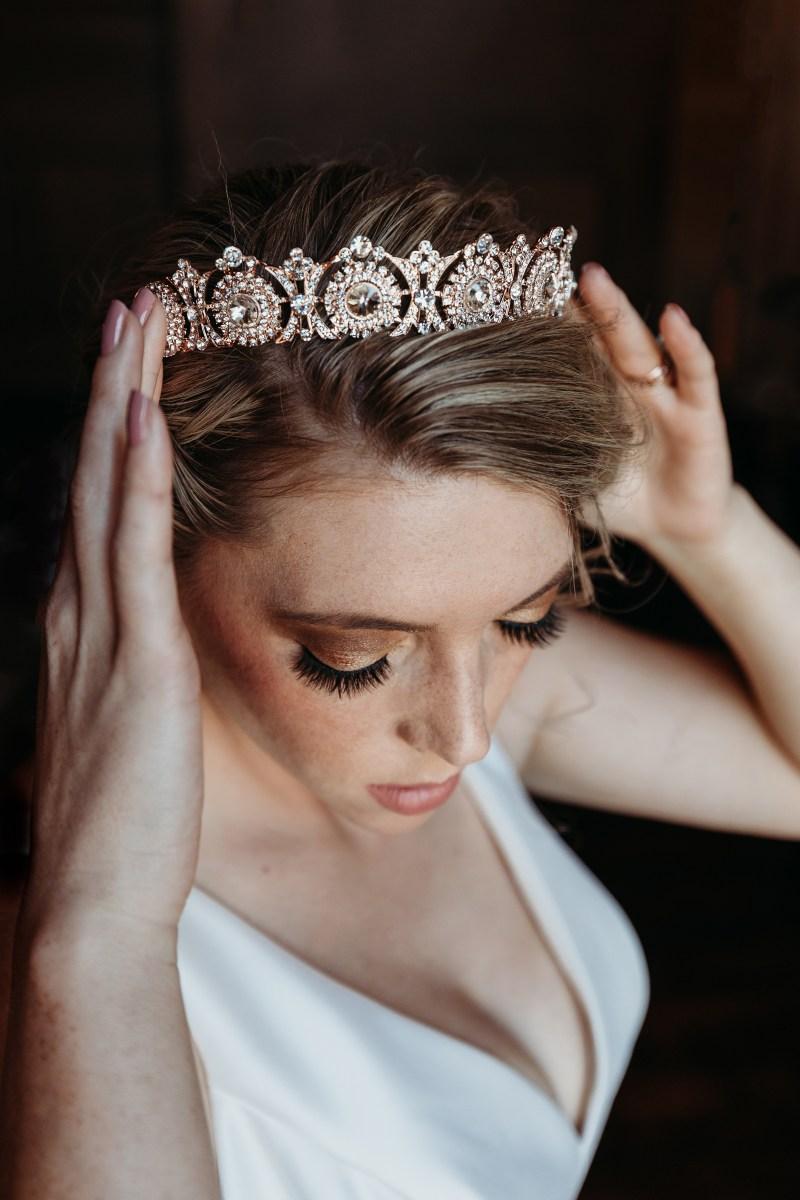 Real Weddings Magazine Contest Giveaway Luxurious Bridal Crown Tiara Luxury Accessories | Best Sacramento Tahoe Northern California Vendors