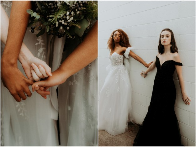 Sacramento New Year's Eve-Inspired Bridal Bridesmaids Gowns Styled Shoot | The Studio in Loomis Wedding Venue