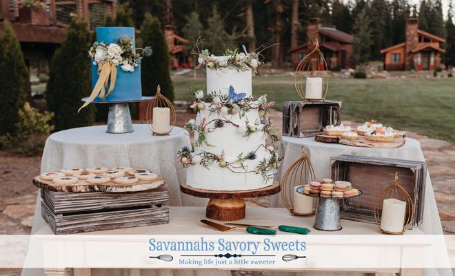 Sacramento Tahoe Wedding Cake Desserts | Savannahs Savory Sweets