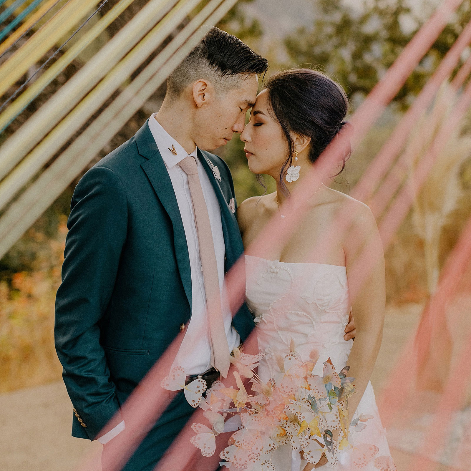 Leah and Justin's Carmel Valley Butterfly Wedding