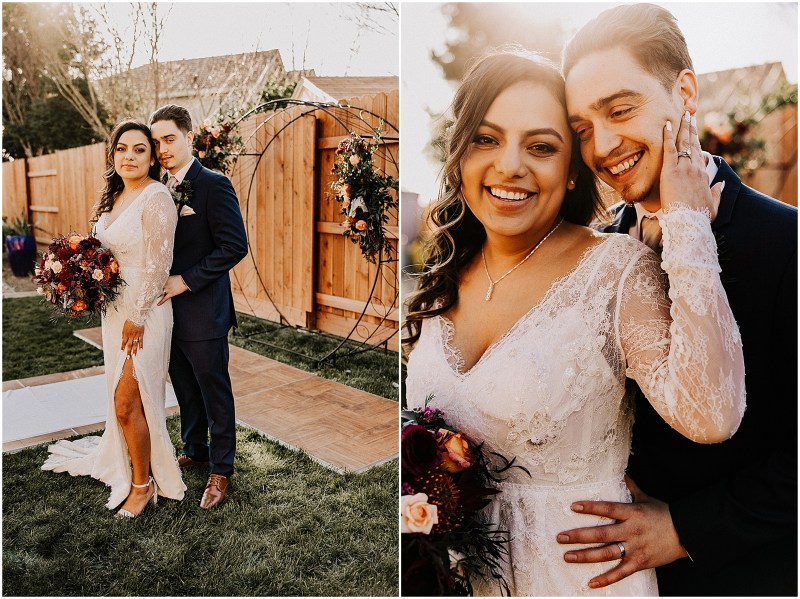 Northern California Backyard Wedding by uvVisions Photography Trianna and Francisco