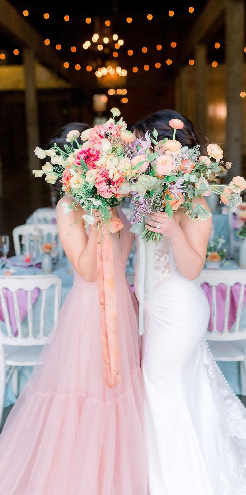 Sarah Schweyer Photography Willow Ballroom Pastel Lesbian Wedding