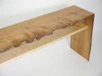 Natural Edge TV Table - Real Wood Studios