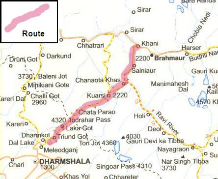 Chamba Valley Trek Route2