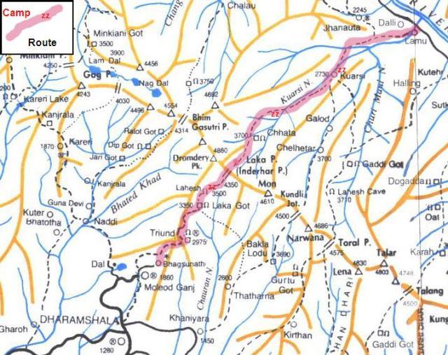 Chamba Valley Trek Route3