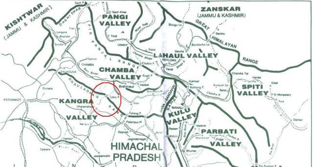 Himachal Predesh Map
