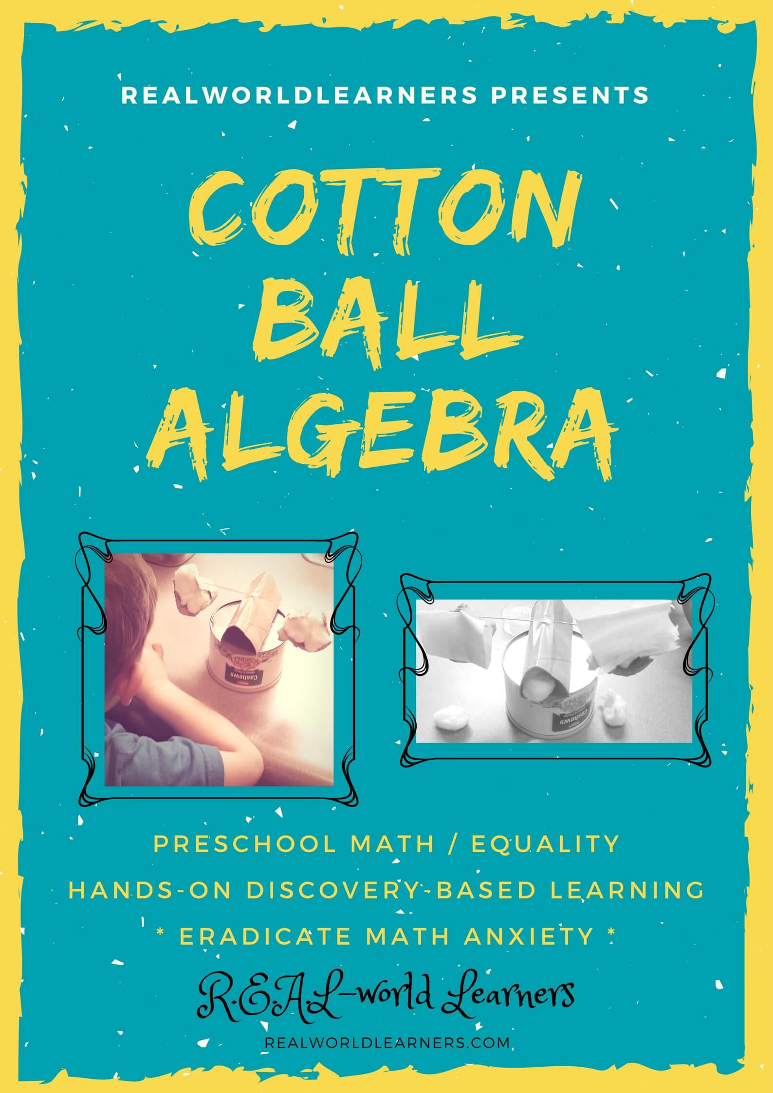 Math Monday: Cotton Ball Algebra ⋆ R.E.A.L.-World Learners