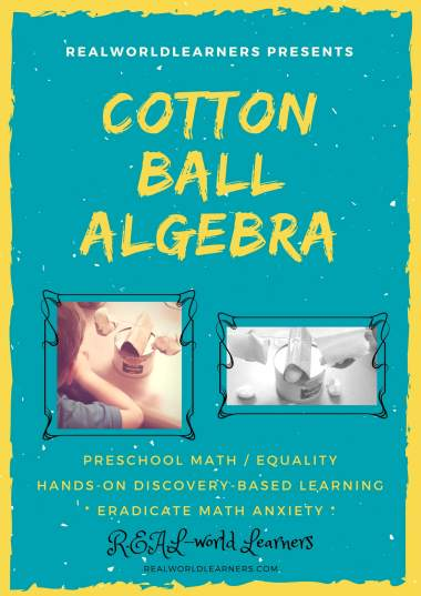 Math Monday: Cotton Ball Algebra ⋆ R.E.A.L.-World Learners