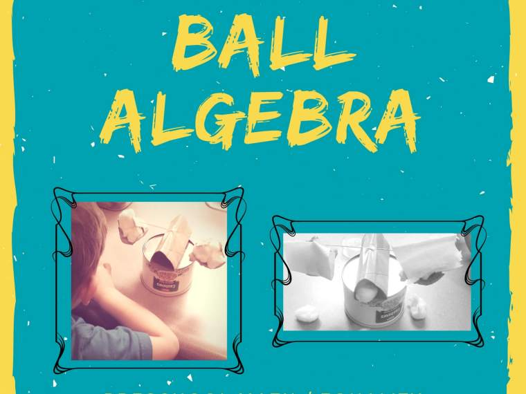 activities to help kids learn the basics of algebra using cotton balls and a DIY balance scale