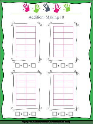 ten frame math game