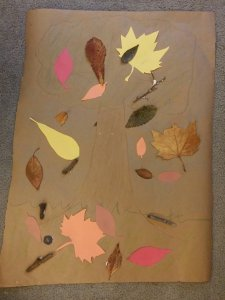 fall crafts with kids | a mixed-media leaf collage