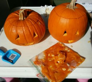 fall crafts with kids | carving pumpkins