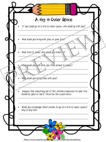 Storytelling prompts and templates with examples | A Trip to Outer Space | Set includes 4 free printable story forms to help encourage young children develop creative thinking skills