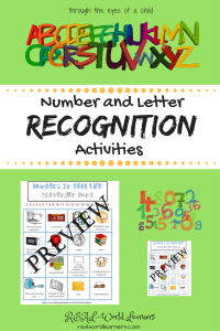 number and letter recognition activities | a scavenger hunt to help preschoolers identify numbers in the world around them (rather than just on a worksheet)