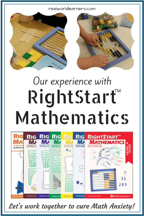 Our experience using the RightStart Mathematics Curriculum | Let's work together to eliminate math anxiety!