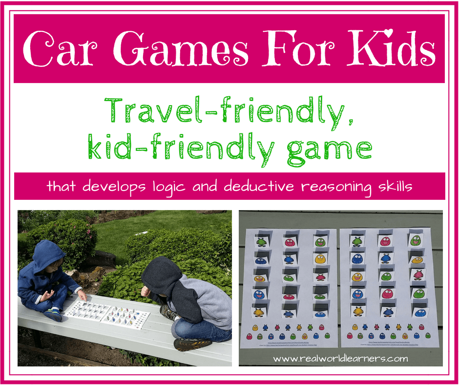 Car games for kids - a printable for your next road trip