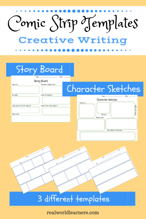 Blank Comic Strip Template Printable For Creative Writing Practice R E A L World Learners