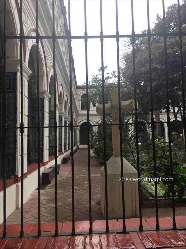 Lima with kids indoor view of San Francisco Monastery
