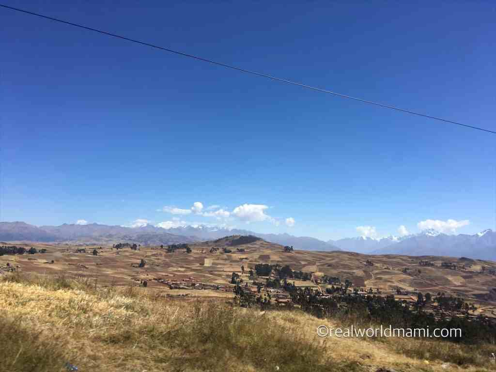 Peru with kids: Chincheros' view