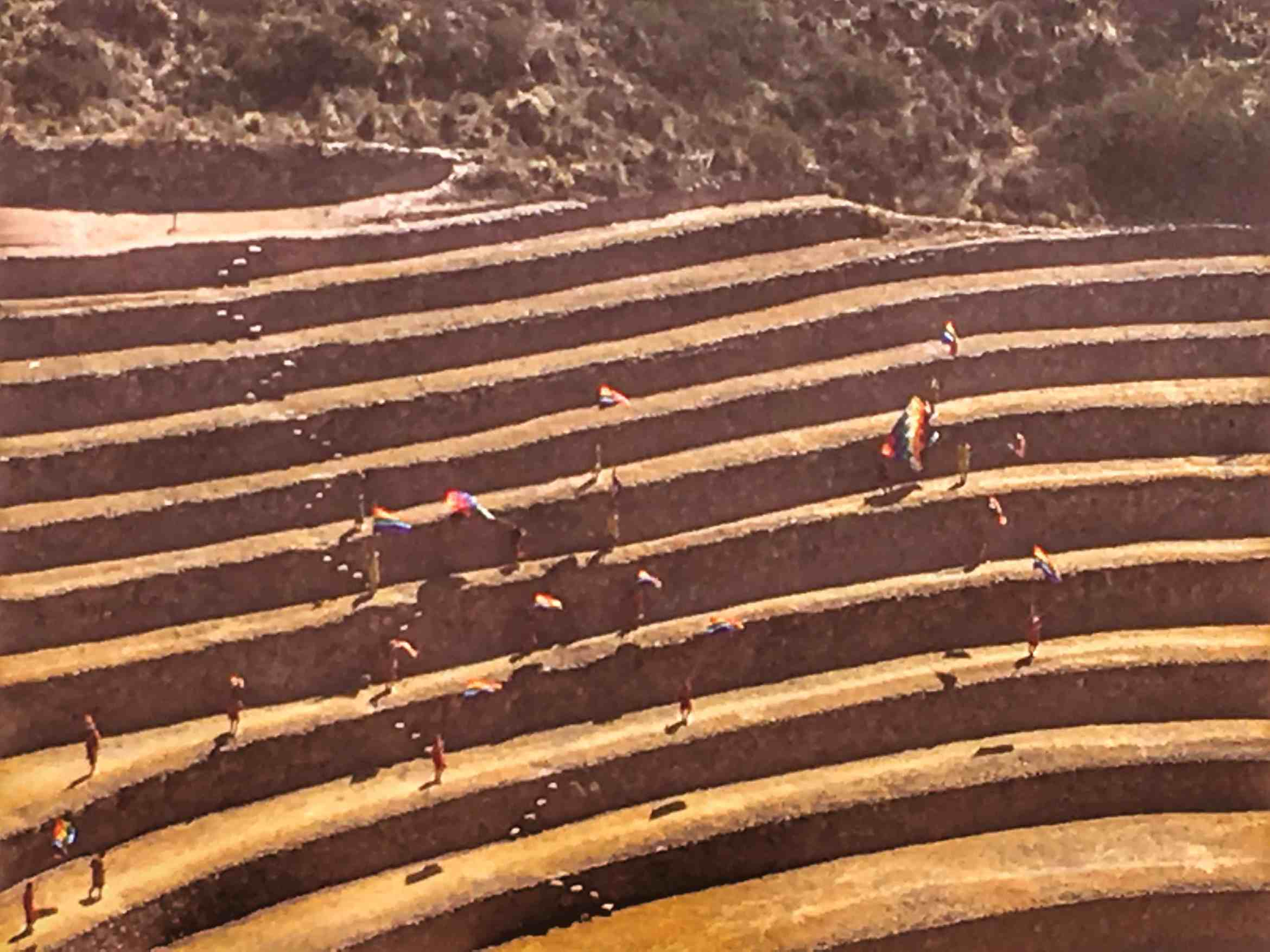 Moray Inca ruins with kids