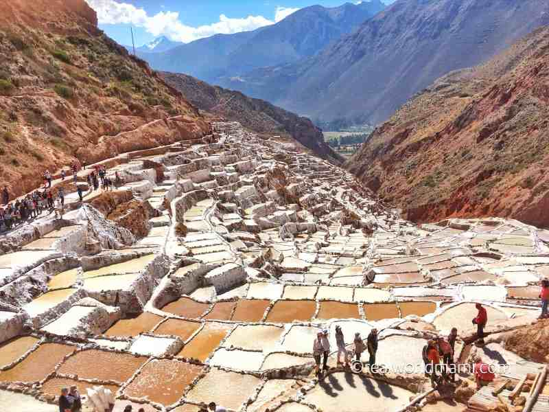 Maras Salt Pond with kids