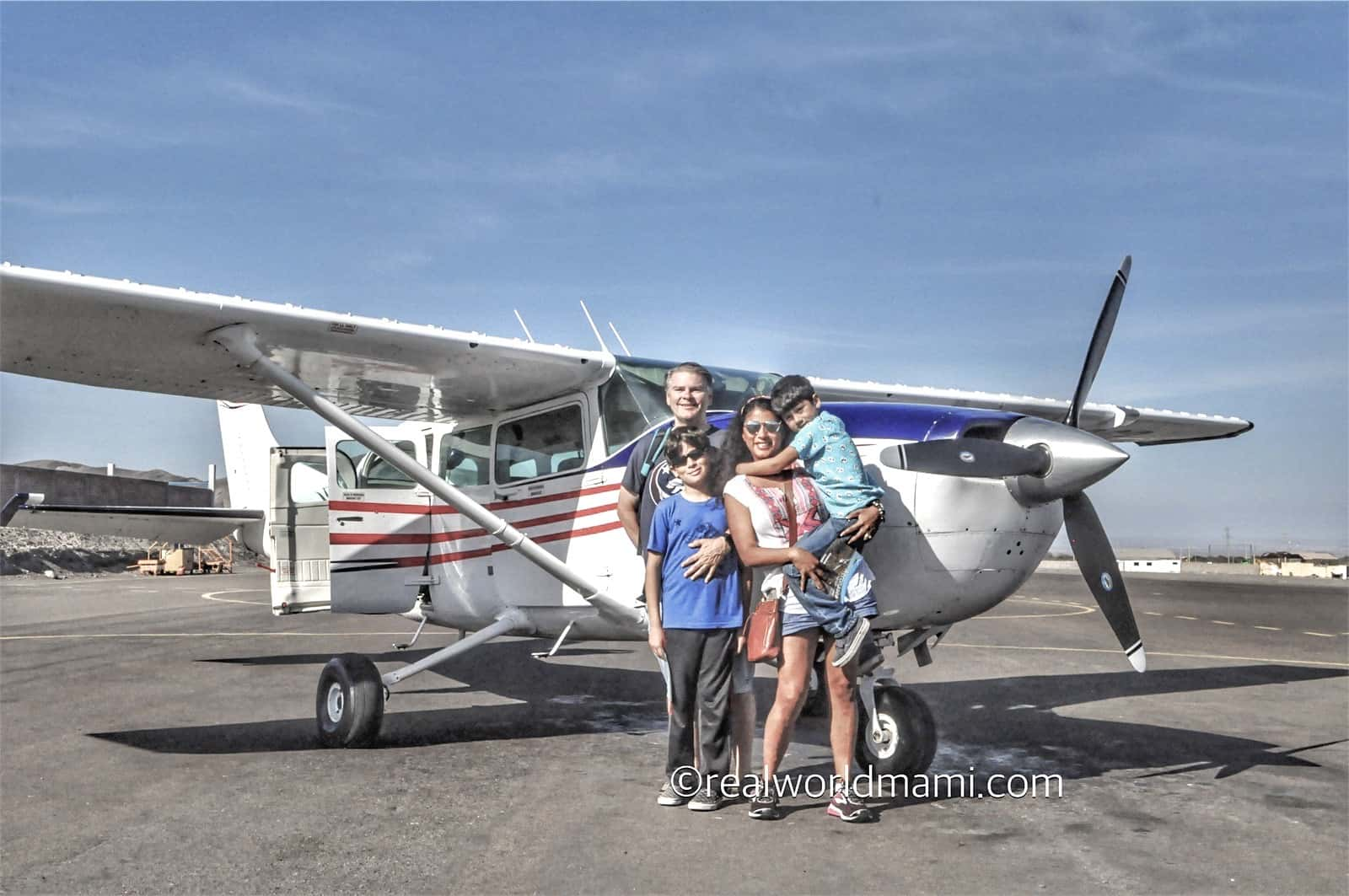 Family Flying Nazca Line