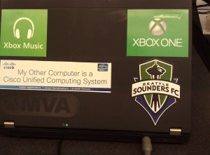 UCS Sticker on Laptop