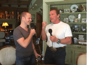 Time Ferriss and Arnold Schwarzenegger
