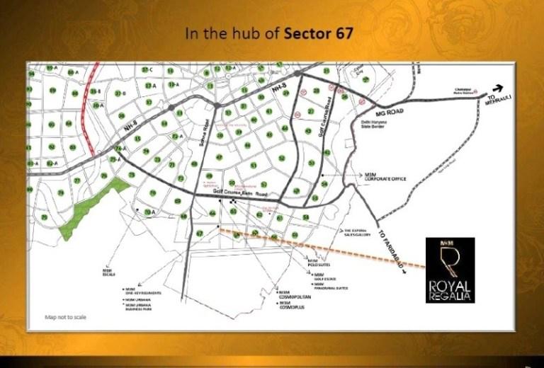 M3M Royal Regalia Golf Course Extension Road, Gurgaon Flats & Apartments, Luxury-Location-Map