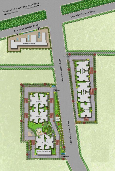 MRG World The Meridian Affordable Housing Sector 89 Gurgaon Dwarka Expressway, Gurgaon, New Gurgaon (NH8) Affordable, Affordable Homes-Site-Plan