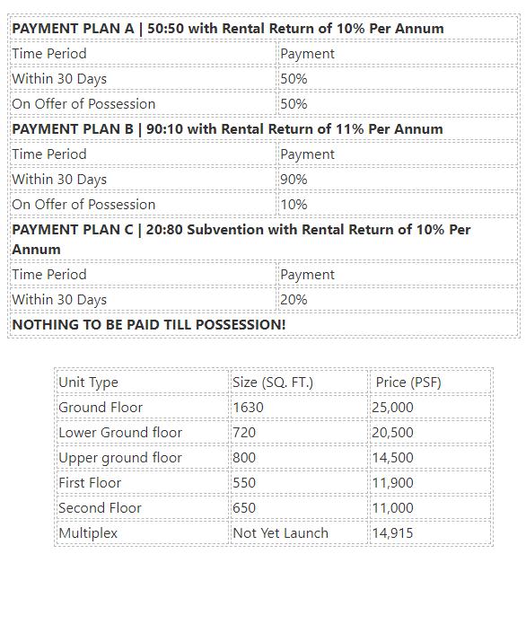 M3M Corner Walk Sector-74 Gurgaon Price List & Brochure?