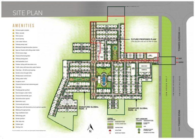 Signature Global Park Floors Sector 36 Sohna South Of Gurgaon Sohna Sector 36 Sohna Affordable Affordable Floors Site-Plan