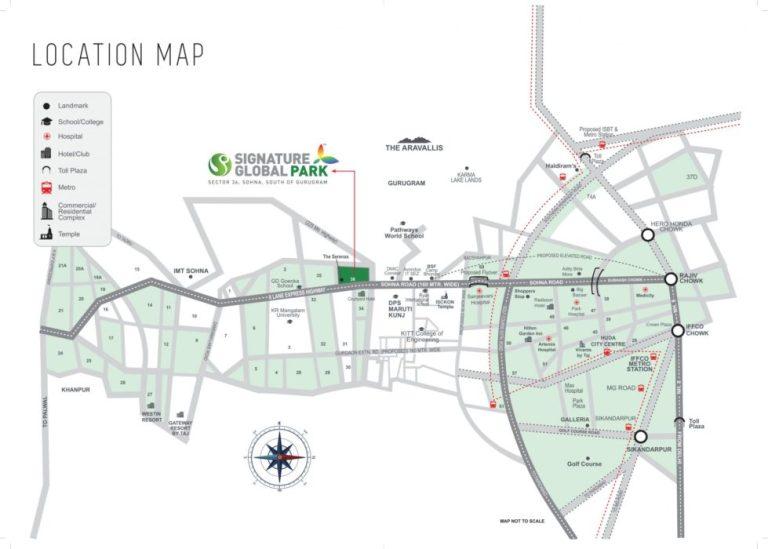 Signature Global Park Floors Sector 36 Sohna South Of Gurgaon Sohna Sector 36 Sohna Affordable Affordable Floors Location-Map