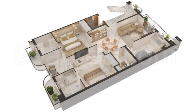 Floor Plan Smart World 2 BHK